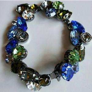 Coach Multicolored Chunky Crystal Gems Bracelet
